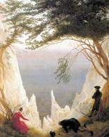 Caspar David Friedrich, Les falaises de Rügen, 1818, Huile sur toile, 90,5 cm × 71 cm, Museum Oskar Reinhart - Image wikimédia commons