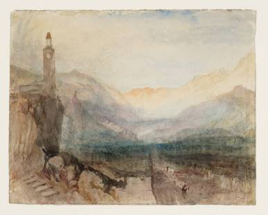 Joseph Mallord William Turner,The Pass of the Splügen: Sample Study, circa 1841-2, Graphite and watercolour on paper, 243 x 304 mm, Tate, London, © Tate, London 2013, All rights reserved