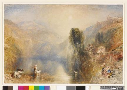 Turner Joseph Mallord William, Lac Nemi, 1840, aquarelle gouachée, 0,340 x 0,510 m, British Museum, Londres, Royaume-Uni (C) Diffusion en Europe sauf Royaume-Uni et Irlande - The British Museum, Londres, Dist. RMN-Grand Palais / The Trustees of the British Museum