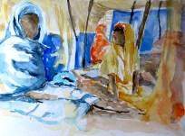 Frauen im Zelt