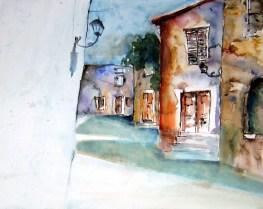 aquarell, istrien, oprdalj, kroatien
