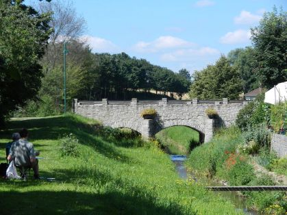 aquarell, watercolor, waldviertel, fronsburg, brücke, bridge, steinbrücke, stonebridge