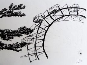 wien, vienna, prater, riesenrad, autodrom, achterbahn, roller coaster, big dipper, switchback, montagnes russes, grand huit, vergnügungspark, amusement park, leisure park, pleasure ground, parc d´attractions,