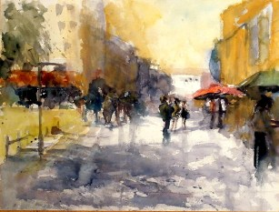 aquarell, watercolor, aquarelle, acquerello, acuarela, wien, vienna, vienne, favoriten, favoritenstraße, breakdance,