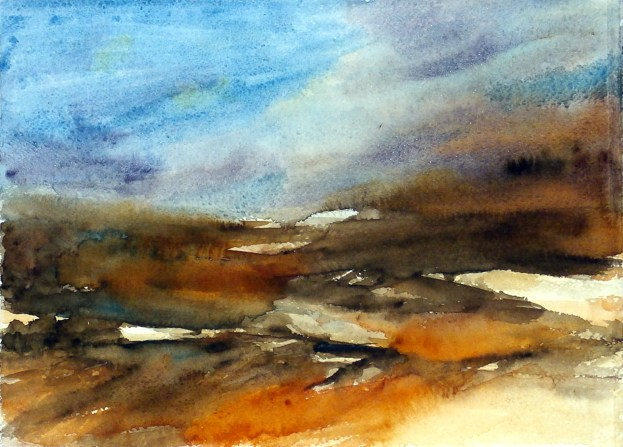 aquarell, watercolor, aquarelle, acquerello, acuarela, feld, felder, field, fields, champ, champs, campo,