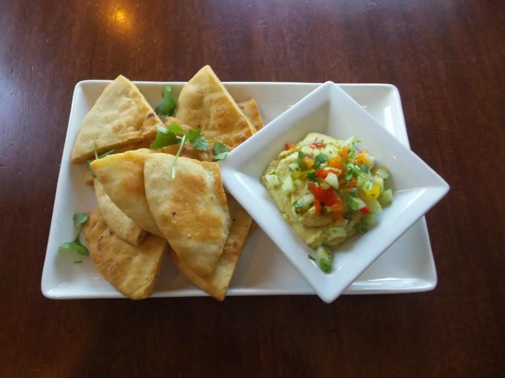 Avocado Hummus at AQUA Restaurant