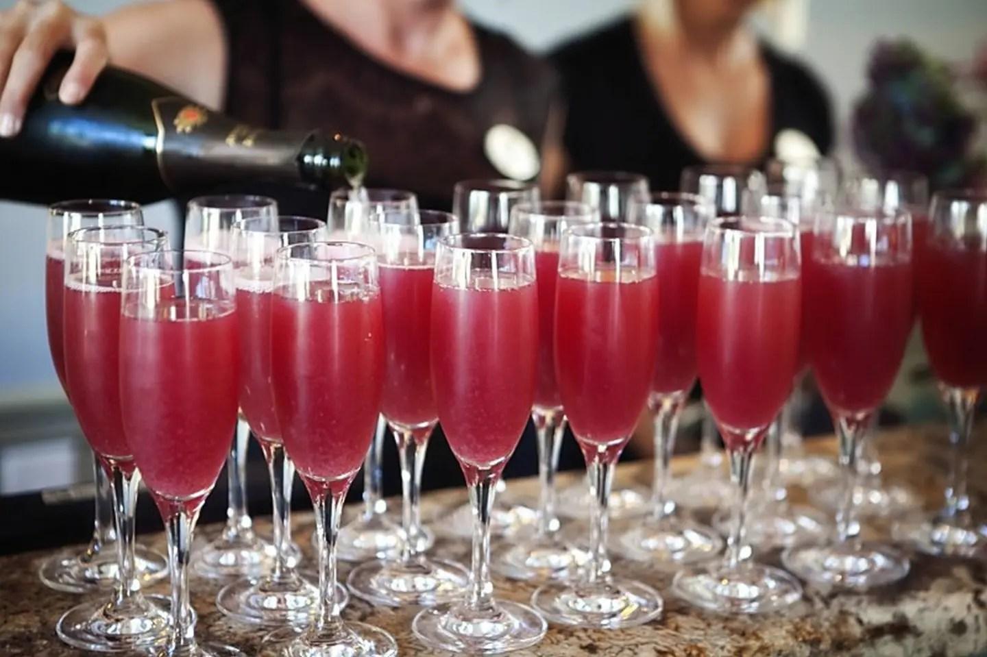Champagne Cocktails for Weddings at AQUA Restaurant