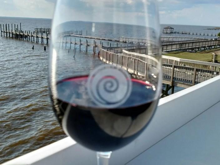 Wine at AQUA Restaurant