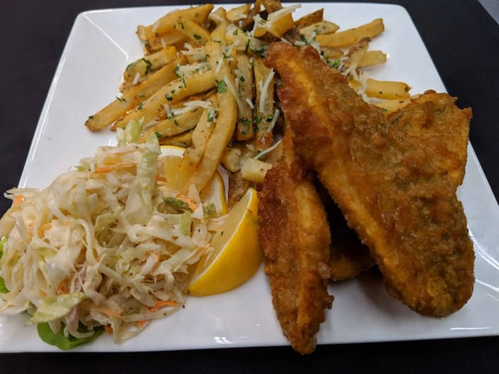 Fish & Chips at AQUA Restaurant