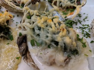 Southern baked oysters