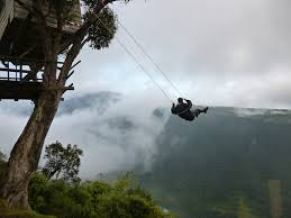 Man-on-Swing-Volcano-images