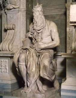 Moses with Horns in Vatican michelangelo-sculptures-16