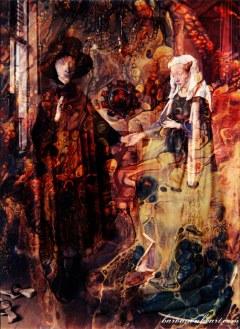 The Arnolfini marriage after Jan van Eyck