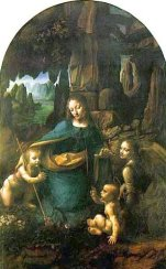 Virgin of Rocks (London and Louvre) leonardo da vinci 7