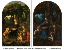 Virgin-of-the-Rocks-by-Leonardo-da-Vinci-London-Louvre-Comparison