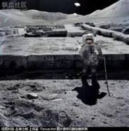 Moon astronaut images