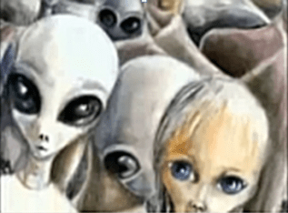 Alien Groups Faces