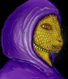 Reptilian-Purple-Robe
