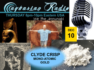 aquarian poster thursday - we the annunaki - Clyde Crisp