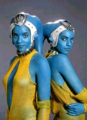 Blue Aliens GellaSisters
