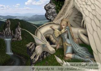 Dragon and girl 97396605216864f62b86