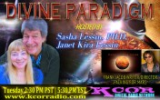 Frank-Jacob-Writer-Director-Packing-For-Mars-Divine-Paradigm-Dr-Sasha-Lessin-Janet-Kira-Lessin-KCOR-Digital-Radio-Network-Flyer