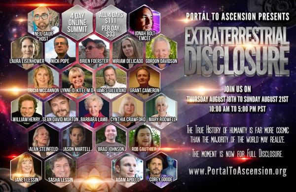 Extraterrestrial Disclosure August 18-21-2016 Poster