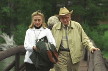 Hillary Clinton with Laurance Rockefeller