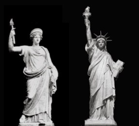 Roman statue goddess libertas - staue of liberty