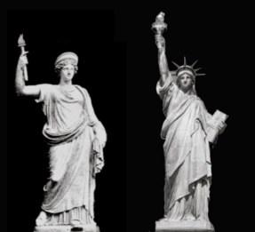 Roman statue goddess libertas - staue of liberty