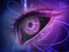 Quantum Hologram 11 eye indigo being - eye - dimension