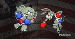 fighting elephant donkey images