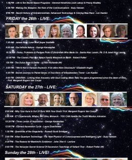 Live Streaming ~ Stargate to the Cosmos Expo ~ October 25-28, 2018