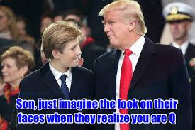 QAnon 1 Baron & Donald Trump images