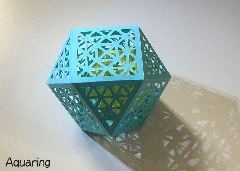 立体切り絵の立方八面体