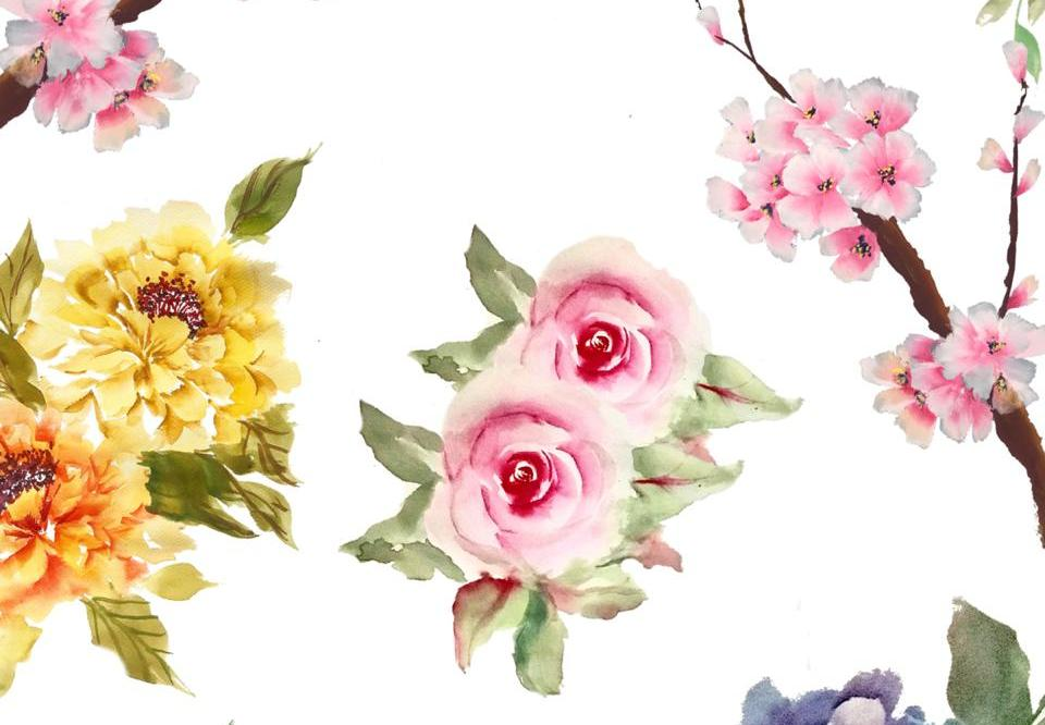 Floral Painting Using Triangle Brush in Google Classroom by Play Crafts