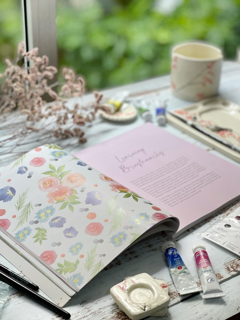 How to paint watercolor florals without pencil drawing