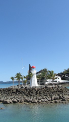 The Hamilton Island Harbour lighthouse. Photo by: Leviana Coccia.