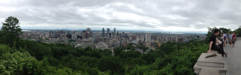 Beautiful view of Montreal from Mount Royal.