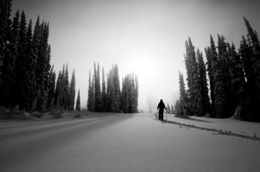 Skier: Leslie Hogg Location: Sol Mountain Lodge, BC. Photo by Zoya Lynch.