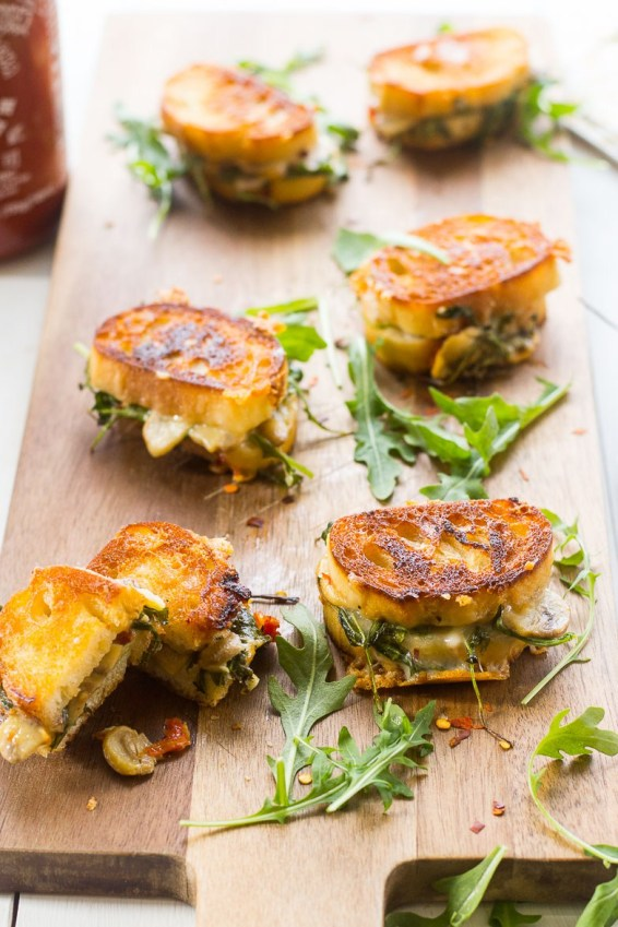 Mini grilled cheese sandwiches. Photo courtesy of: Taylor Stinson.