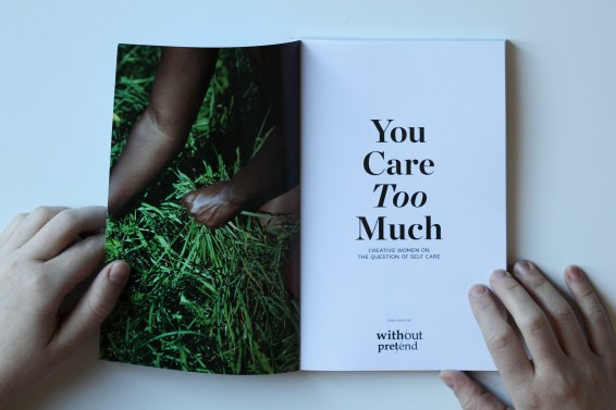 """The inner cover of """"You Care Too Much."""" Photo courtesy of: Erin Klassen."""