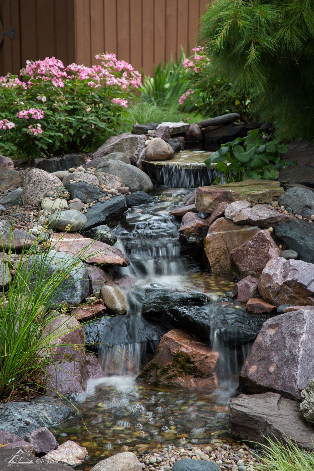 Pondless Waterfall Design & Construction Tips for Beginners on Small Backyard Pond With Waterfall  id=52012