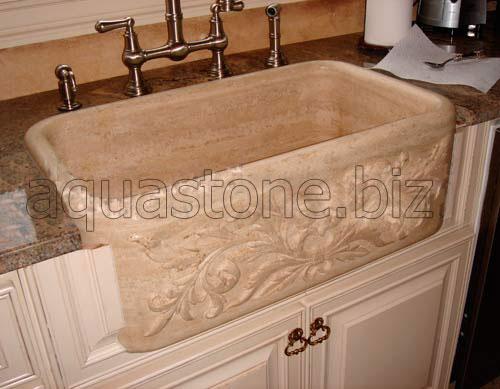 natural stone farm sink granite