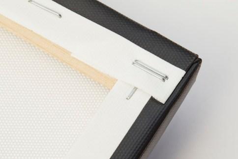 Canvas wrap wood frame.
