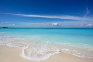 Tropical beach dream, Turks, print; Caribbean Blue, a Tropical Beach