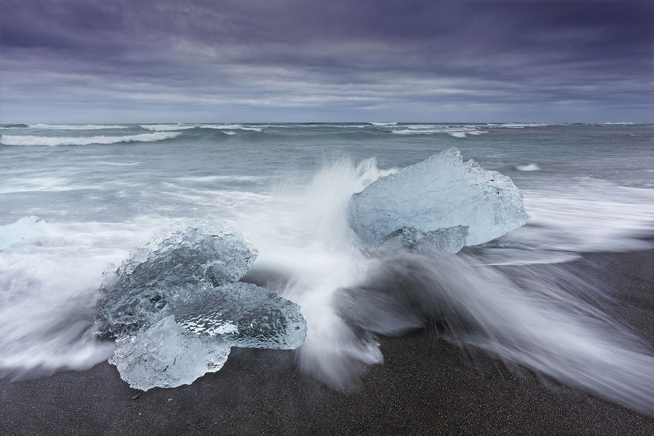 Shoreline ice, Iceland, print