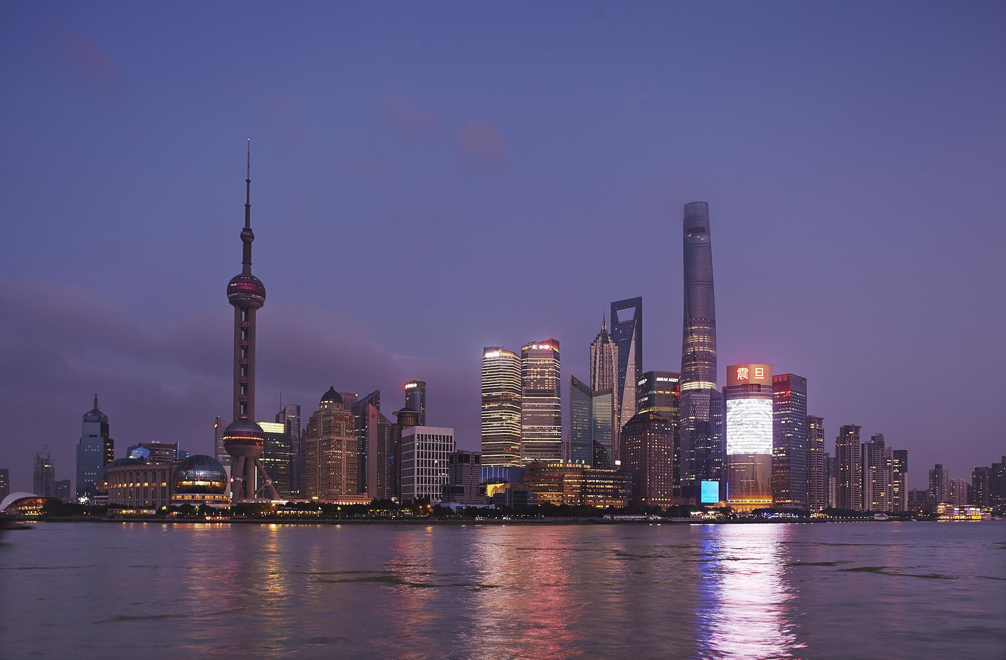 Shanghai dusk print