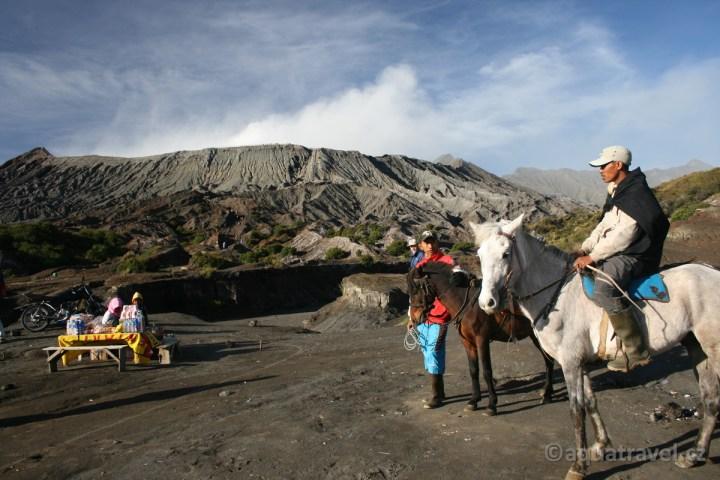Koně v kráteru sopky Bromo