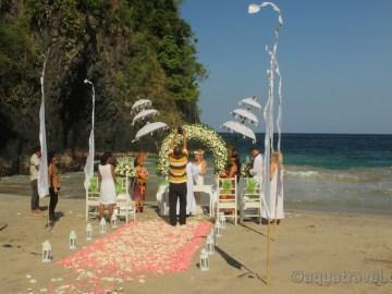 Bali svatba na bílé pláži